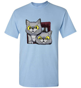 Exo and Exi the Excited Cats Men's T-shirt S-2XL-T-shirt-Kucicat