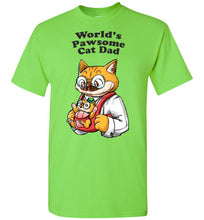 Cat Dad Kids T-shirt World's Pawsome Cat Dad