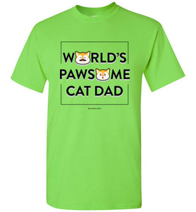 Cat Dad Kids T-shirt World's Pawsome Cat Dad Series 2