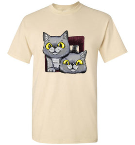 Exo and Exi the Excited Cats Men's T-shirt S-2XL