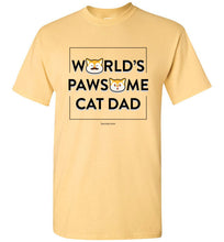 Cat Dad Men's T-shirt World's Pawsome Cat Dad Series 2 S-2XL
