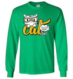 Cat Dad Kids Long Sleeve T-shirt Anyone Can Be A Dad, But It Took Someone Special to be a Cat Daddy-T-shirt-Kucicat