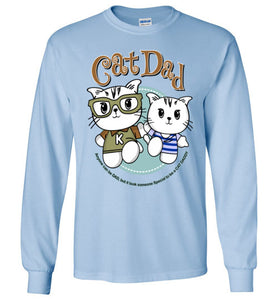 Cat Dad Unisex Long Sleeve T-shirt It Took Someone Special to be a Cat Daddy S-2XL-T-shirt-Kucicat