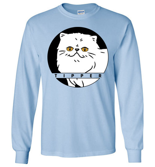 Tipperandco Persian White Cat Kids Long Sleeve T-shirt-T-shirt-Kucicat