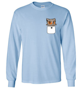 Knoet Cat Kids Long Sleeve T-shirt Out Of Pocket
