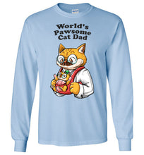 Cat Dad Kids Long Sleeve T-shirt World's Pawsome Cat Dad
