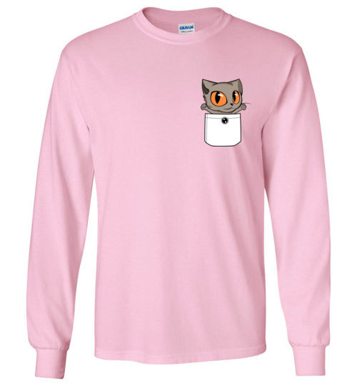 Knoet Cat Kids Long Sleeve T-shirt Out Of Pocket-T-shirt-Kucicat