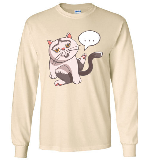 Tipperandco Lenny Cat Unisex Long Sleeve T-shirt S to 2XL