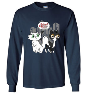 Neyland and Knox the Cat Unisex Long Sleeve T-shirt S-2XL
