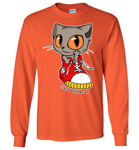 Knoet Cat and The Shoes Unisex Long Sleeve T-shirt S to 2XL