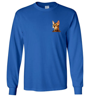 Simba the Bengal Unisex Long Sleeve T-shirt S-2XL