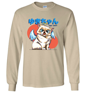 Tipperandco Cat Long Sleeve T-shirt Tribute to Yuki-Chan S to 2XL-Kucicat
