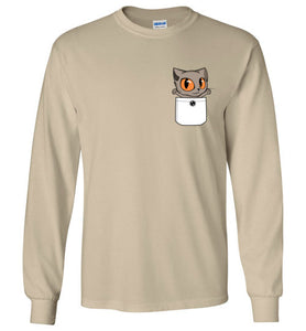 Knoet Out of Pocket Long Sleeve T-shirt British Shorthair Cat S to 2XL