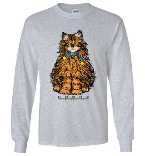 Henry King Cat Smiling Long Sleeve T-shirt