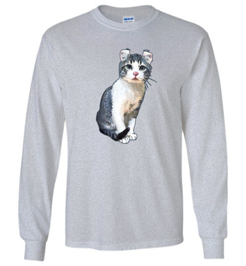 Curly Snow Cat Unisex Long Sleeve T-shirt S-2XL
