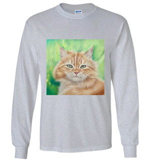 Henry King Cat Painting Long Sleeve T-shirt-Long Sleeve T-shirt-Kucicat