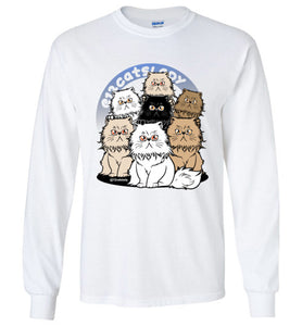 12Catslady Unisex Long Sleeve T-shirt S-2XL