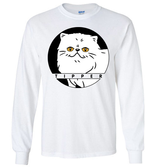 Tipperandco Persian White Cat Long Sleeve T-shirt S to 2XL-T-shirt-Kucicat