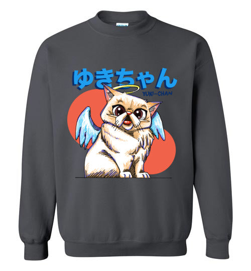 Tipperandco Persian Cat Unisex Sweatshirt Tribute to Yuki-Chan S-2XL-sweatshirt-[Color]-[Size]-[Material]-Kucicat