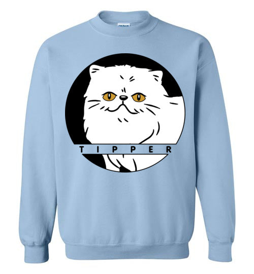 Tipperandco Persian White Cat Unisex Sweatshirt S-2XL-sweatshirt-[Color]-[Size]-[Material]-Kucicat