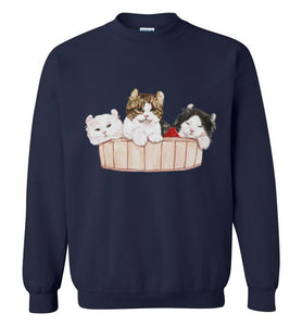 Ameria the Cat Unisex Sweatshirt S-2XL-sweatshirt-[Color]-[Size]-[Material]-Kucicat