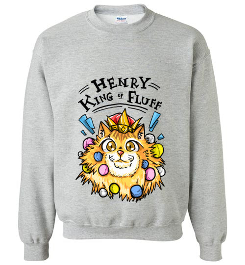 Henry King of Fluff Sweatshirt-Sweater-[Color]-[Size]-[Material]-Kucicat