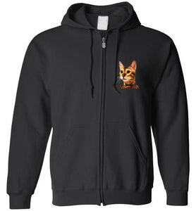 Simba the Bengal Unisex Zip Hoodie Jacket S-2XL