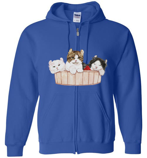 Ameria the Cat Unisex Zip Hoodie Jacket S-2XL-zip hoodie-Royal-S-Kucicat