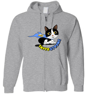 Tayto Strong Unisex Zip Hoodie-Hoodie-Sports Grey-S-Kucicat