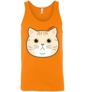 Gombung Face Men's Tank Top-Tank Top-Orange-S-Kucicat