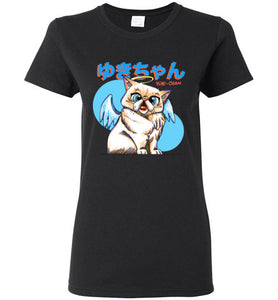 Tipperandco Persian Cat Womens T-shirt Tribute to Yuki-Chan S to 2XL-T-shirt-Kucicat