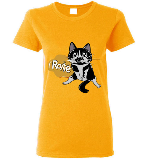 Rollie Cat Women's T-shirt-Kucicat