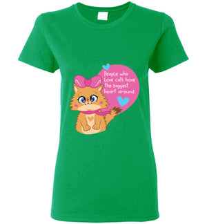 Lolo Quotes - People who Love Cats Have The Biggest Heart Women's T-shirt S-2XL-T-shirt-Kucicat