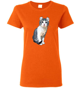 Curly Snow Cat Women's T-shirt