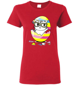 Kiki the Kind Cat Easter - Cracked from an Egg Women's T-shirt