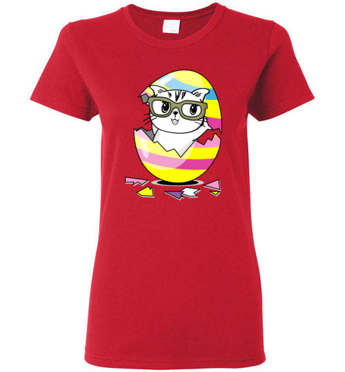 Kiki the Kind Cat Easter - Cracked from an Egg Women's T-shirt-Kucicat