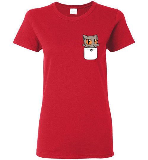 Knoet Out of Pocket Women's T-shirt British Shorthair Cat S to 2XL-T-shirt-Kucicat