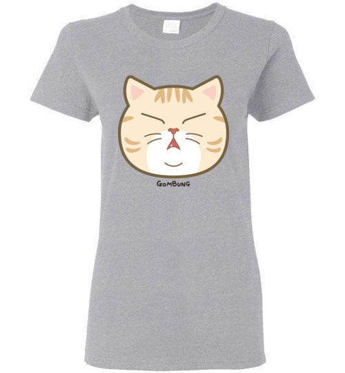 Cute Gombung Face Women's T-shirt S-2XL-T-shirt-Kucicat