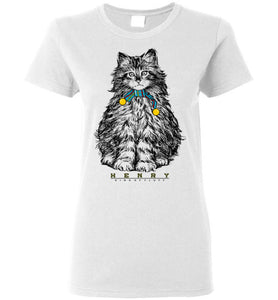 Henry Cat King of Fluff Women's T-shirt S-2XL-T-shirt-Kucicat