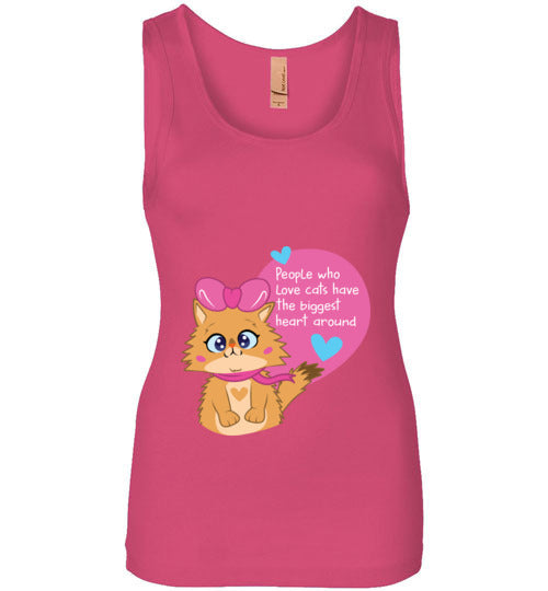 Lolo Quotes - People who Love Cats Have The Biggest Heart Women's Tank Top S-2XL-Hot Pink-S-Kucicat