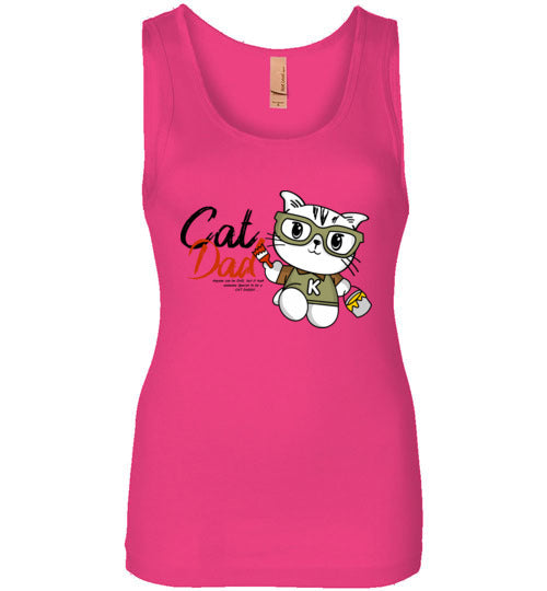 Cat Dad Women's Tank Top Special to be a Cat Daddy S-2XL-Tank Top-Raspberry-S-Kucicat