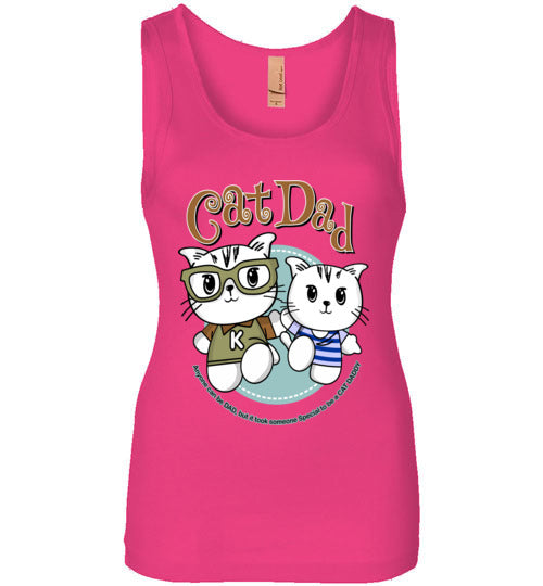 Cat Dad Women's Tank Top It Took Someone Special to be a Cat Daddy S-2XL-Tank Top-Raspberry-S-Kucicat