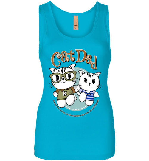 Cat Dad Women's Tank Top It Took Someone Special to be a Cat Daddy S-2XL-Tank Top-Turquoise-S-Kucicat