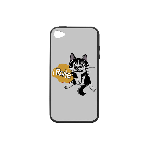 Rollie Cat Various iPhone Cases Collections-Phone Case-One Size-Rollie Rubber Case for iPhone 4/4s-Kucicat