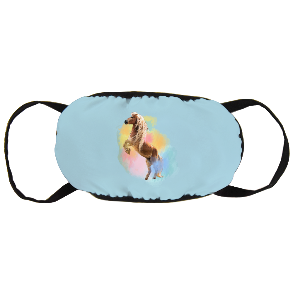 Colorful Naomi & Storm The Haflinger Official Face Mask