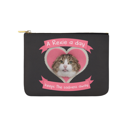 A Rexie A Day Keeps The Sadness Away Pouch-Accessory Pouches-8''x 6