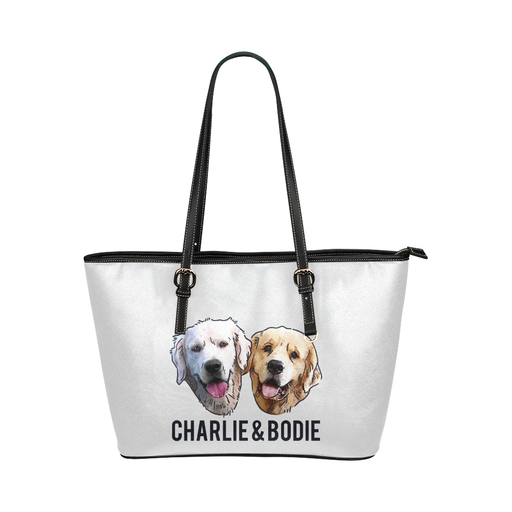 Charlie and Bodie Leather Tote Bag-Kucicat