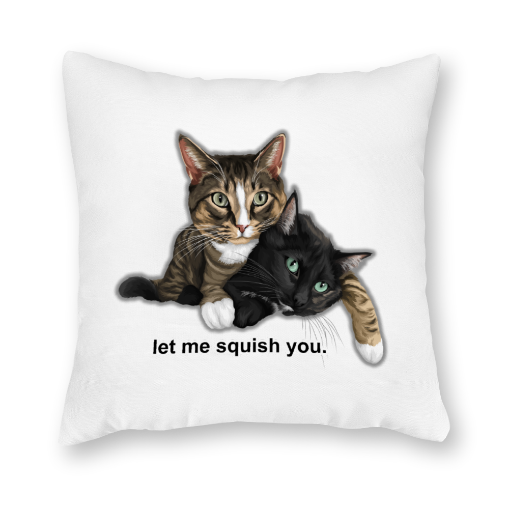 "Mimo And Kirry Official Double-Sided Zippered Pillowcase (16"" x 16"")"