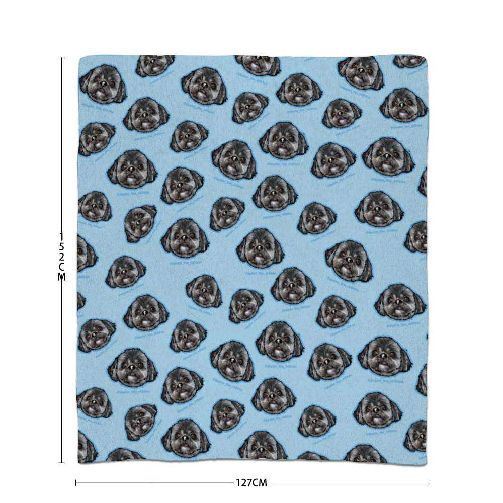 Dexter The Shihtzu All Over Official Blanket