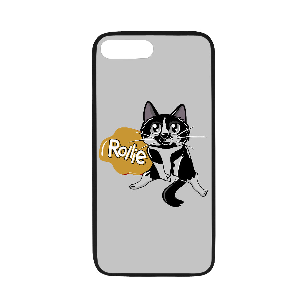 "Rollie Cat Various iPhone Cases Collections-Phone Case-One Size-Rollie Cat Rubber Case for iPhone 7 plus (5.5"")-Kucicat"